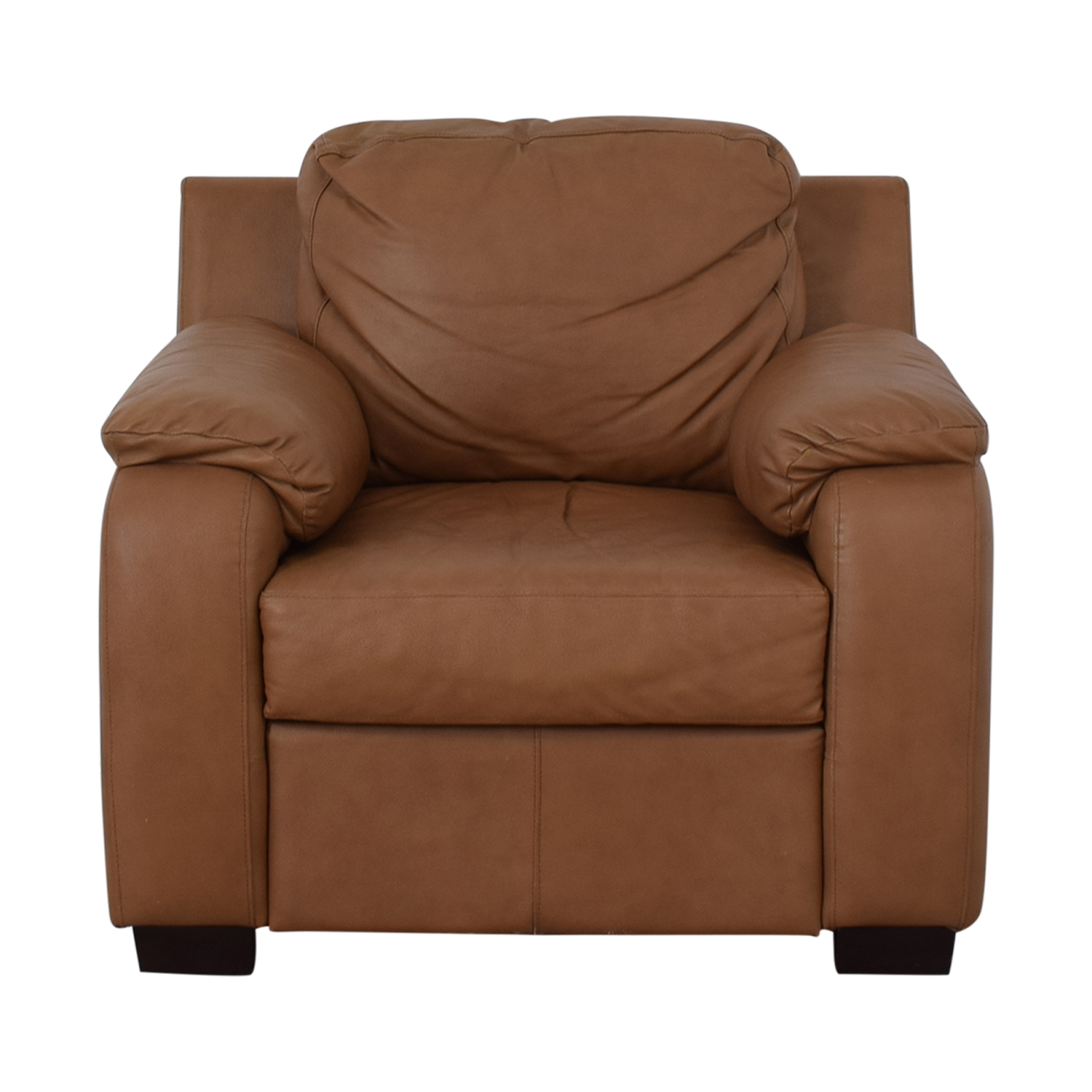 Jennifer Furniture Jennifer Furniture Cognac Accent Chair second hand