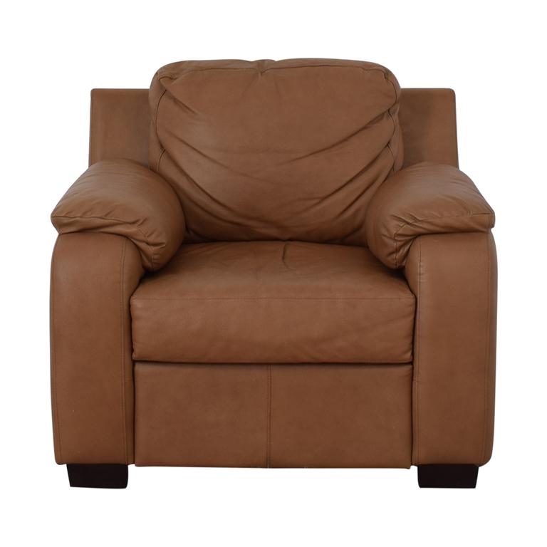shop Jennifer Furniture Cognac Accent Chair Jennifer Furniture Chairs