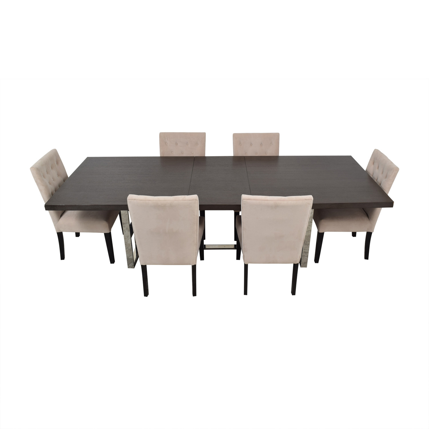 Z Gallerie Z Gallerie Rylan Extentable Dining Set with Beige Tufted Chairs on sale