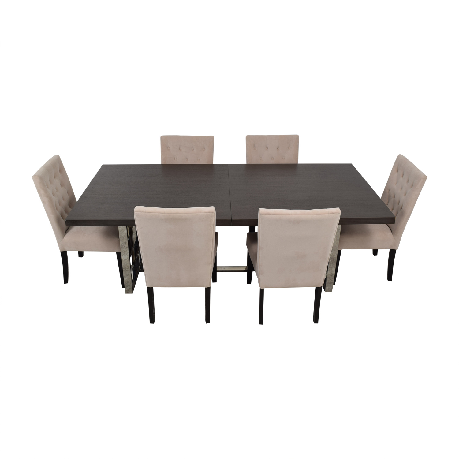 Z Gallerie Z Gallerie Rylan Extentable Dining Set with Beige Tufted Chairs coupon