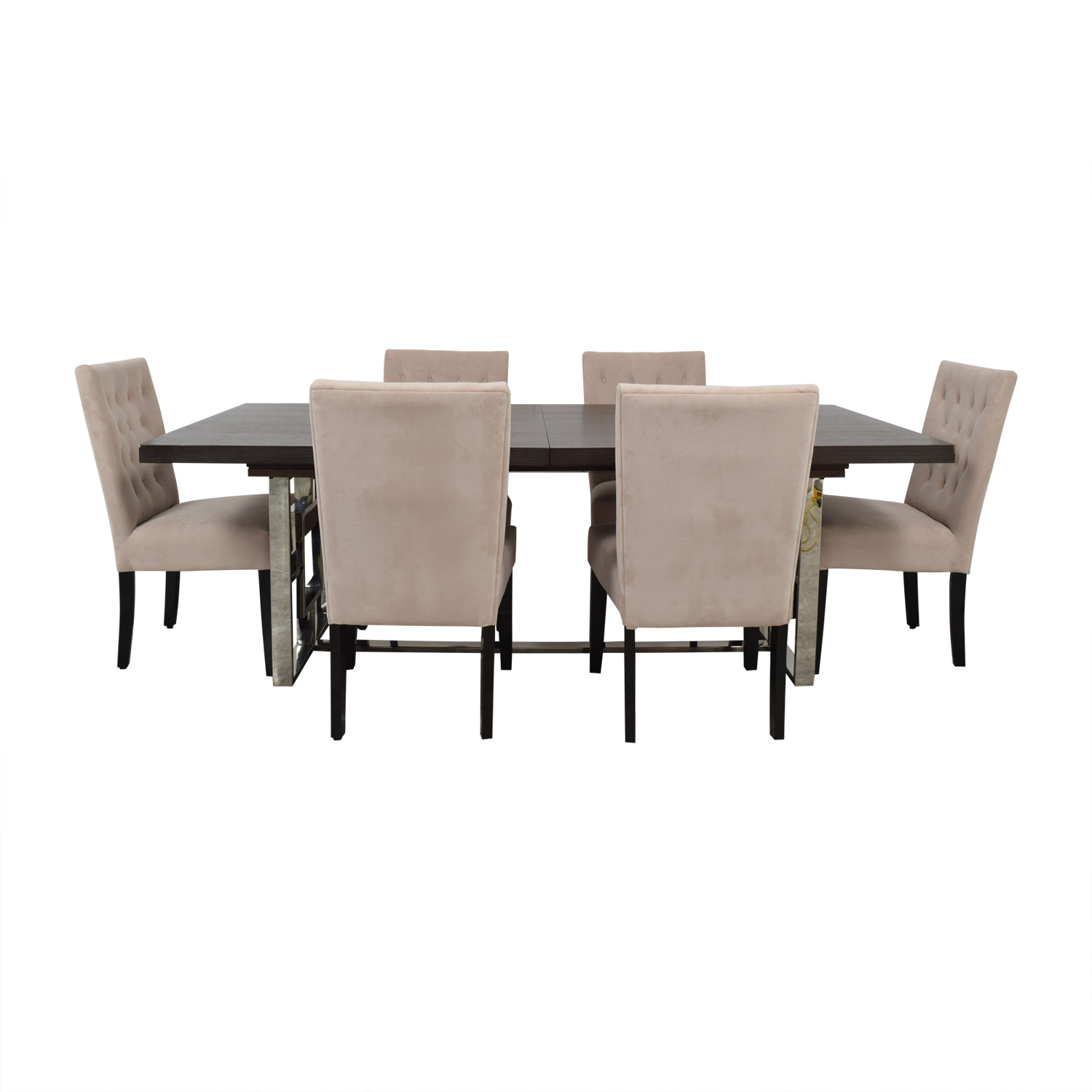 Z Gallerie Z Gallerie Rylan Extentable Dining Set with Beige Tufted Chairs