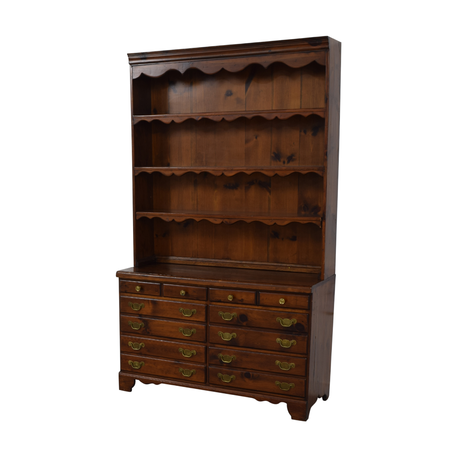 Wood Twelve-Drawer Dovetailed Sideboard with Hutch / Cabinets & Sideboards