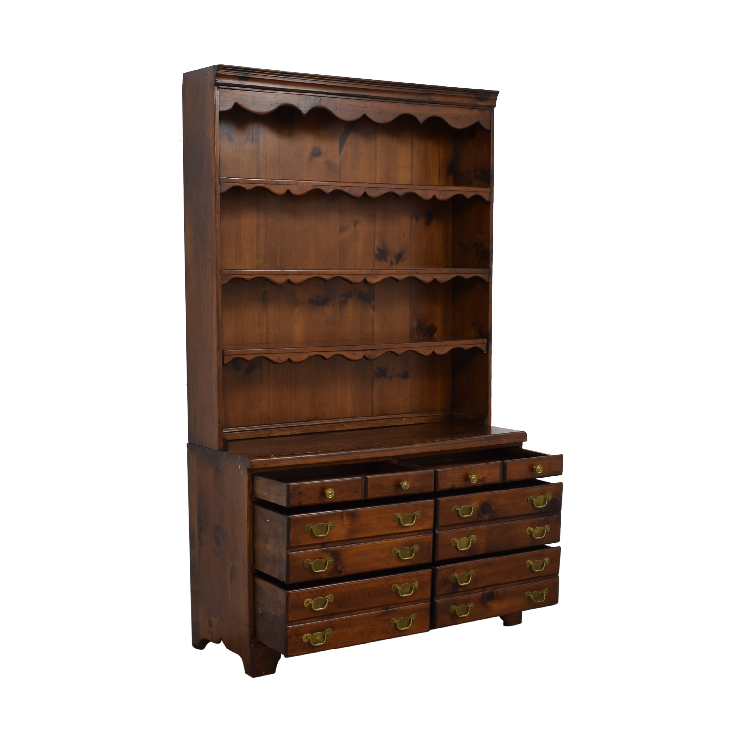 buy Wood Twelve-Drawer Dovetailed Sideboard with Hutch