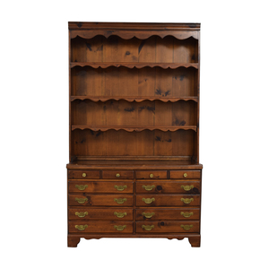 Wood Twelve-Drawer Dovetailed Sideboard with Hutch on sale
