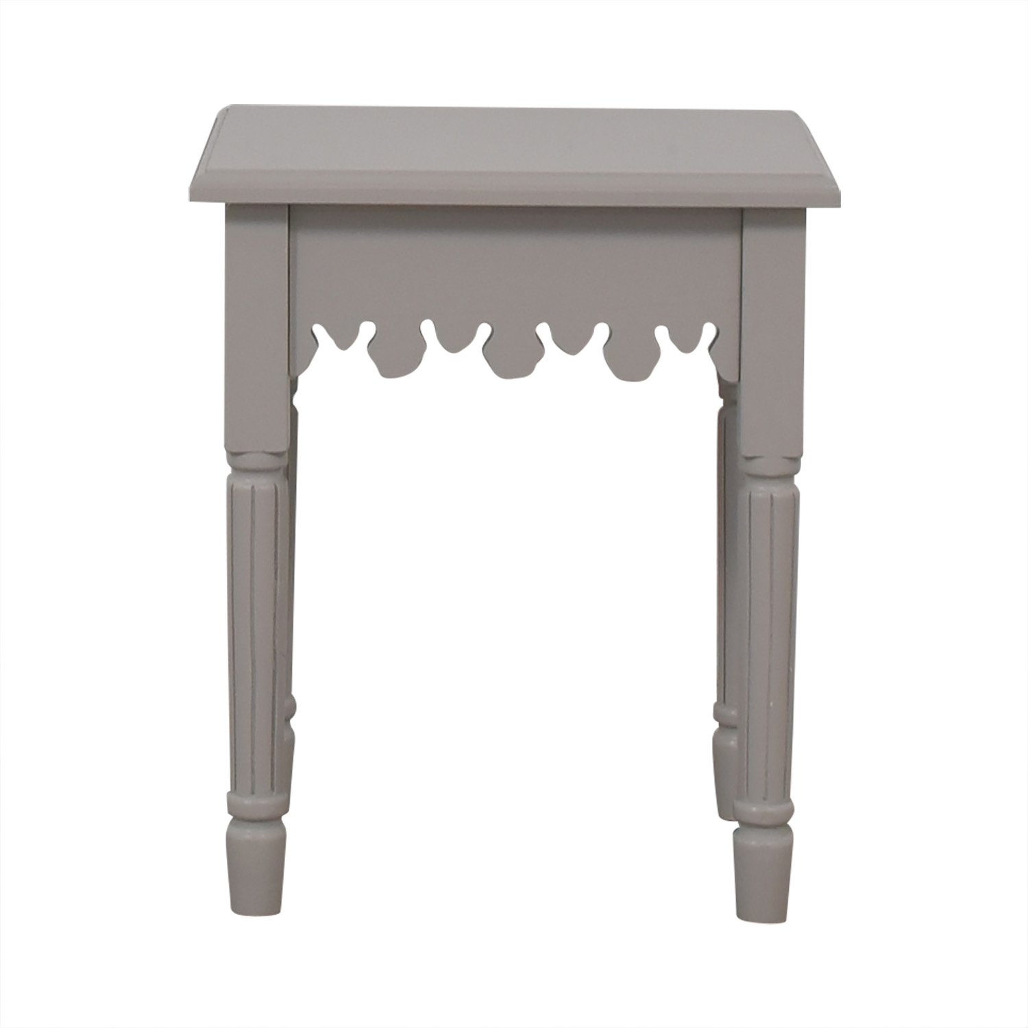 White Dovetailed End Table for sale