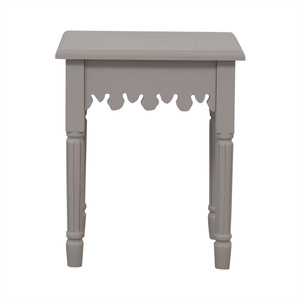 White Dovetailed End Table price
