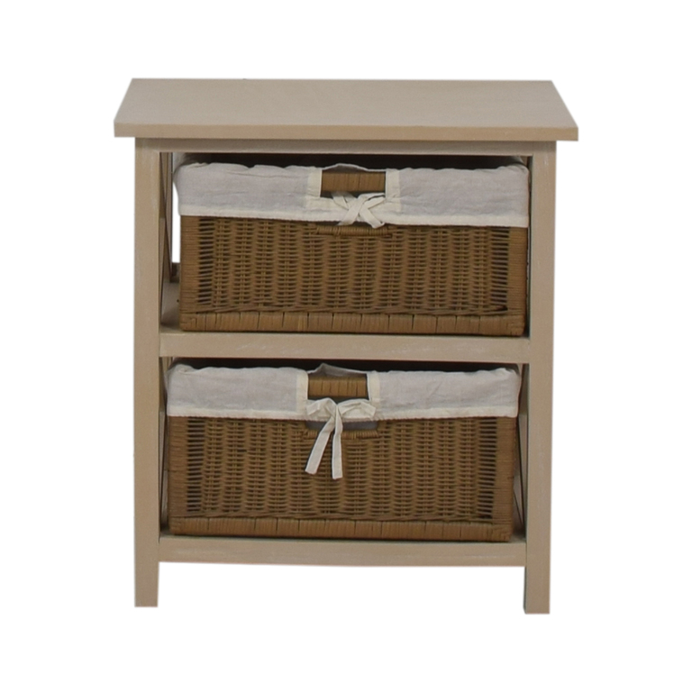shop  End Table With Two Wicker Baskets online