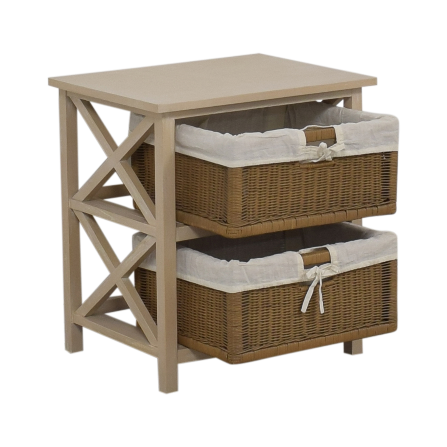 buy End Table With Two Wicker Baskets  End Tables