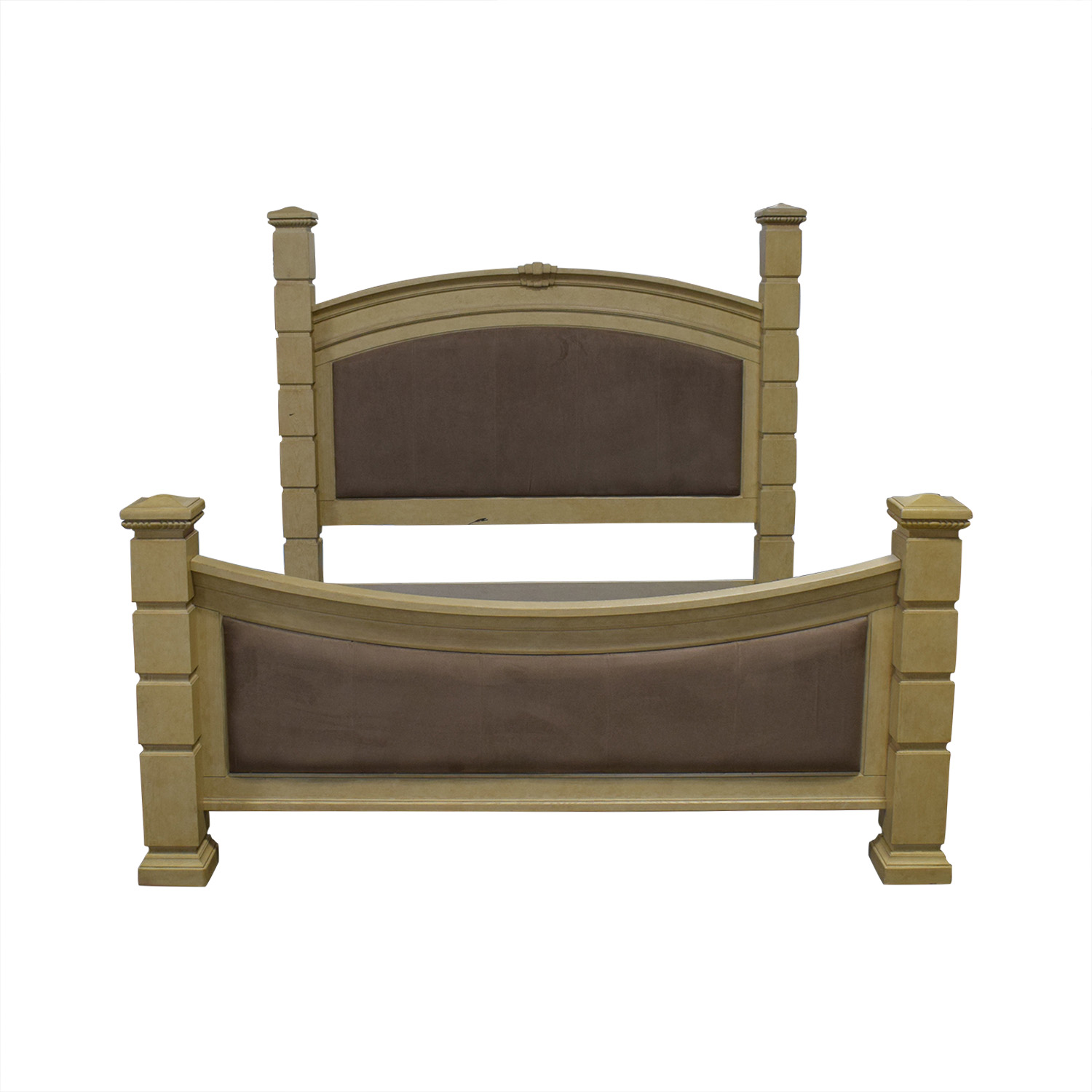 Rooms To Go Tan And Beige King Bed Frame Beds