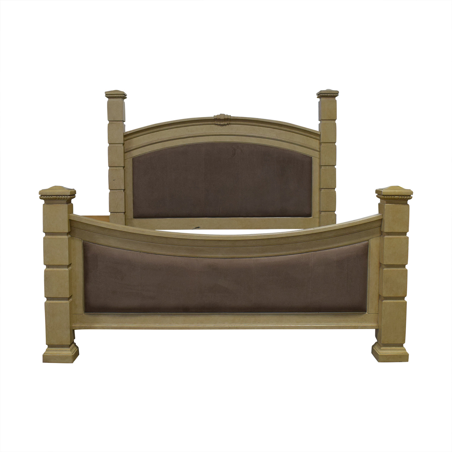 Rooms To Go Rooms To Go Tan and Beige King Bed Frame second hand