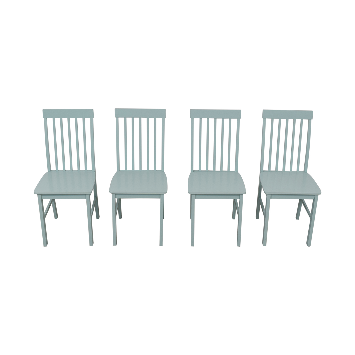 Light Blue Wood Chairs dimensions