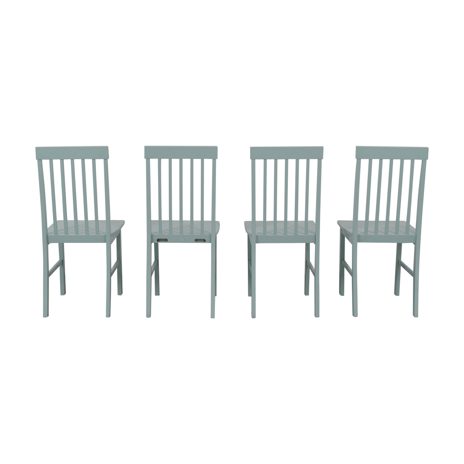 Light Blue Wood Chairs / Dining Chairs