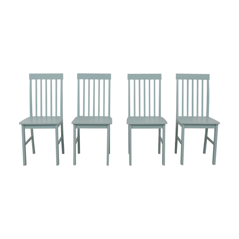 Light Blue Wood Chairs