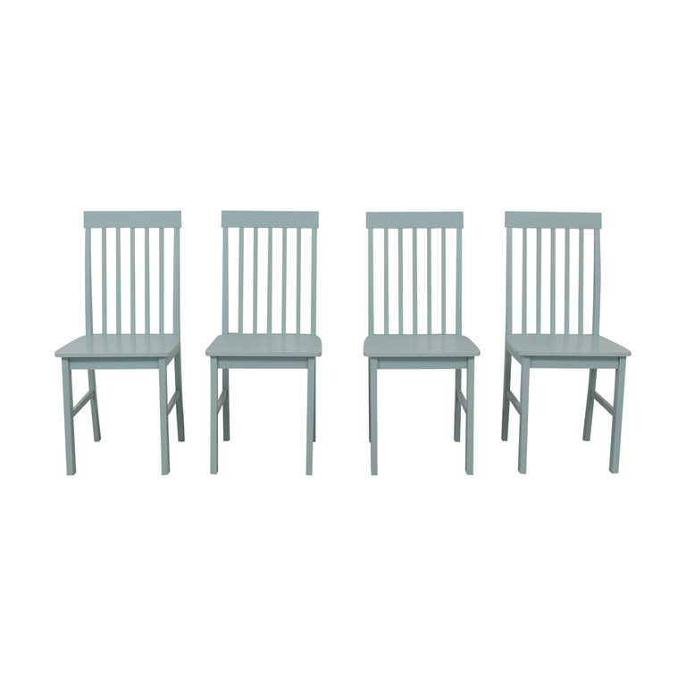 Light Blue Wood Chairs second hand