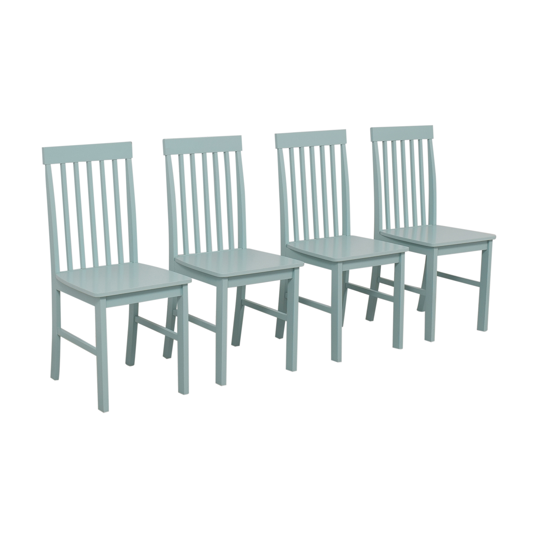 Light Blue Wood Chairs nyc