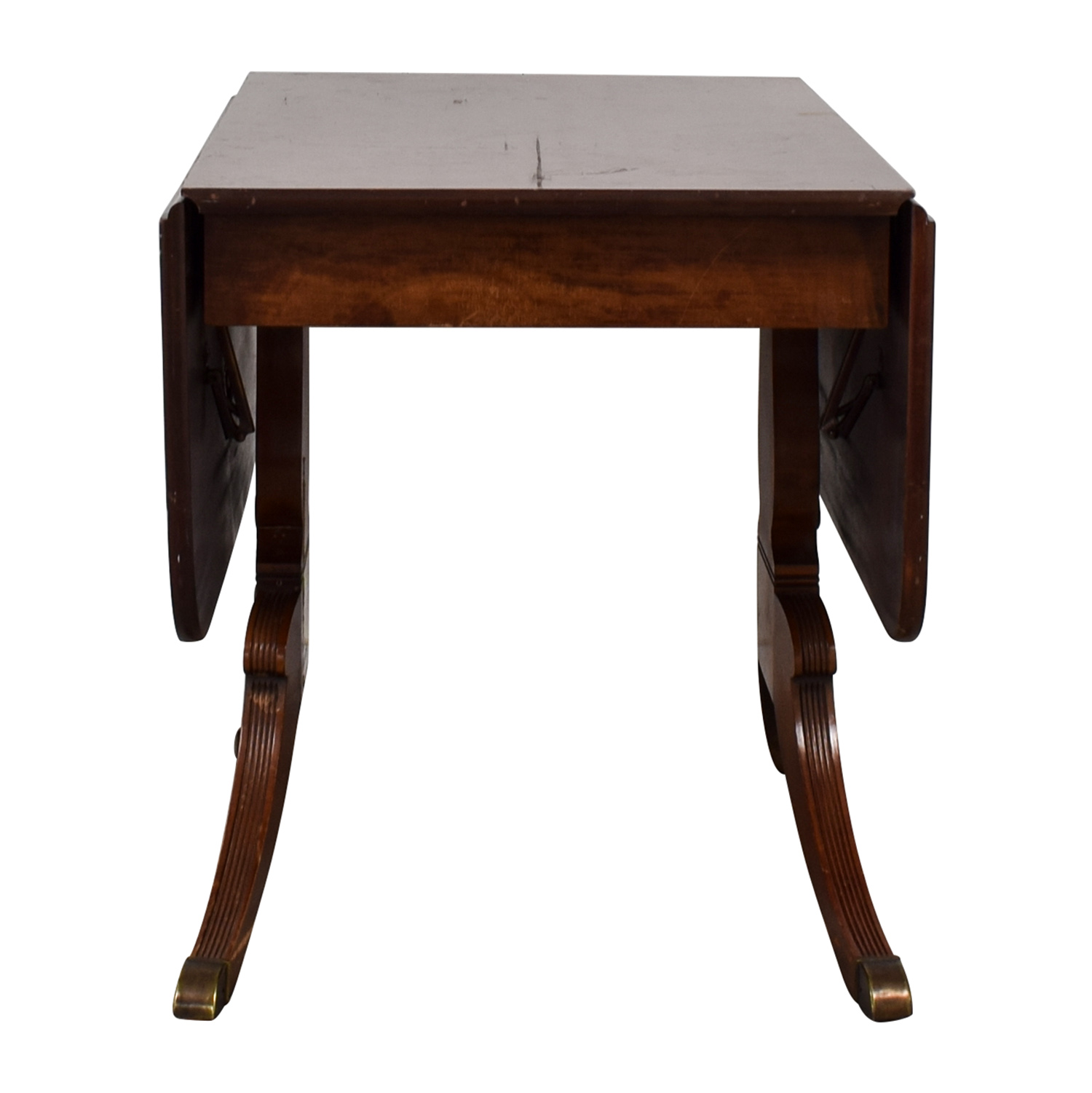 Fold Down Wooden Table On
