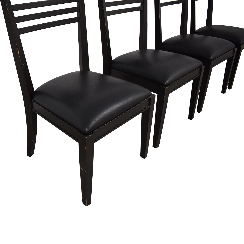 Crate & Barrel Crate & Barrel Black Dining Chairs nj