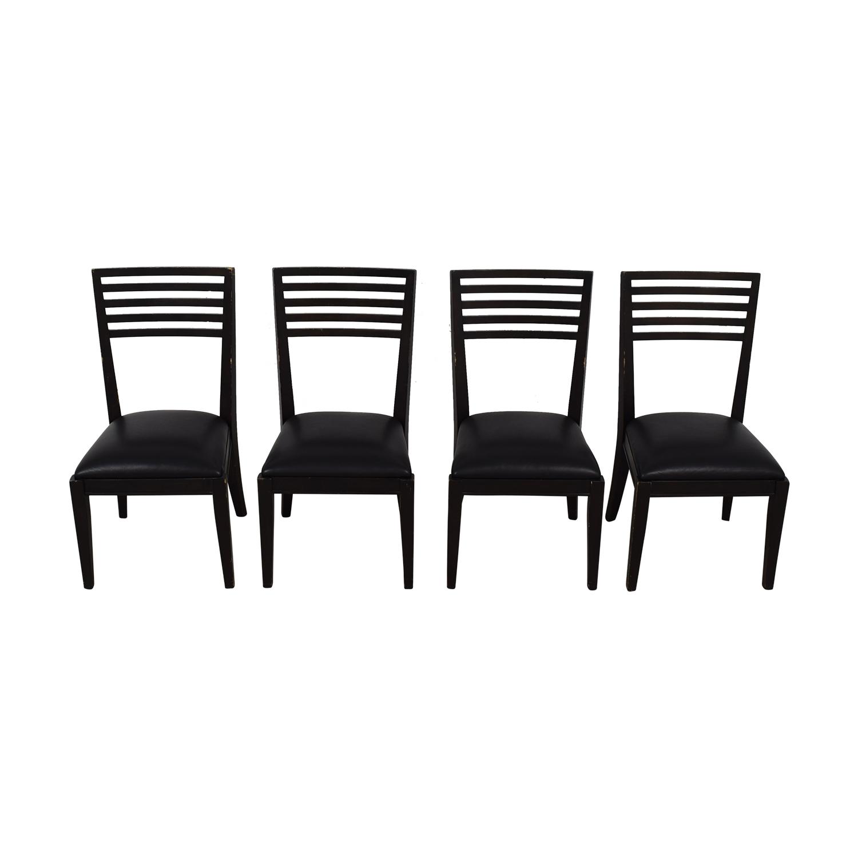 Crate & Barrel Crate & Barrel Black Dining Chairs