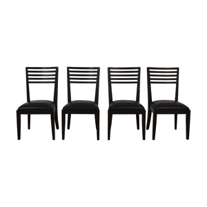 Crate & Barrel Crate & Barrel Black Dining Chairs Chairs