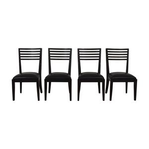 Crate & Barrel Crate & Barrel Black Dining Chairs discount