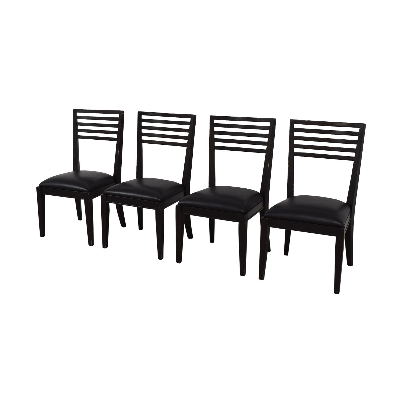 shop Crate & Barrel Black Dining Chairs Crate & Barrel