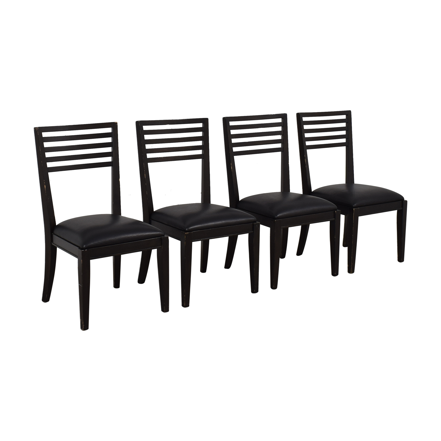 Crate & Barrel Black Dining Chairs sale