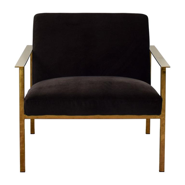 CB2 Cue Carbon Black Chair / Chairs