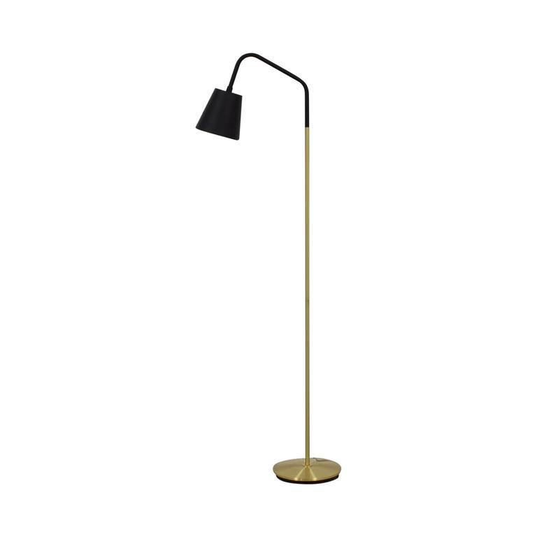 CB2 CB2 Crane Brass Floor Lamp