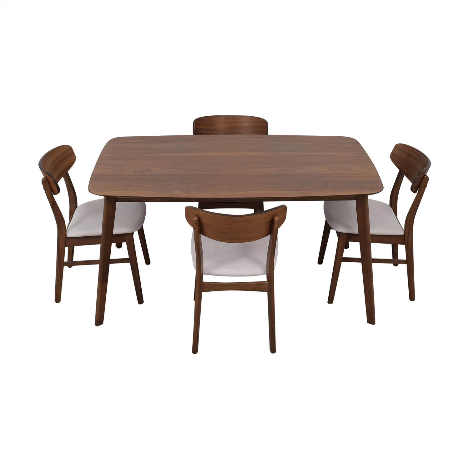 All Modern All Modern Upholstered Dining Set dark brown