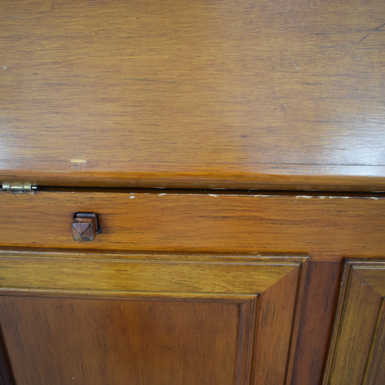 Crate & Barrel Four-Drawer Wood Secretary Desk / Tables