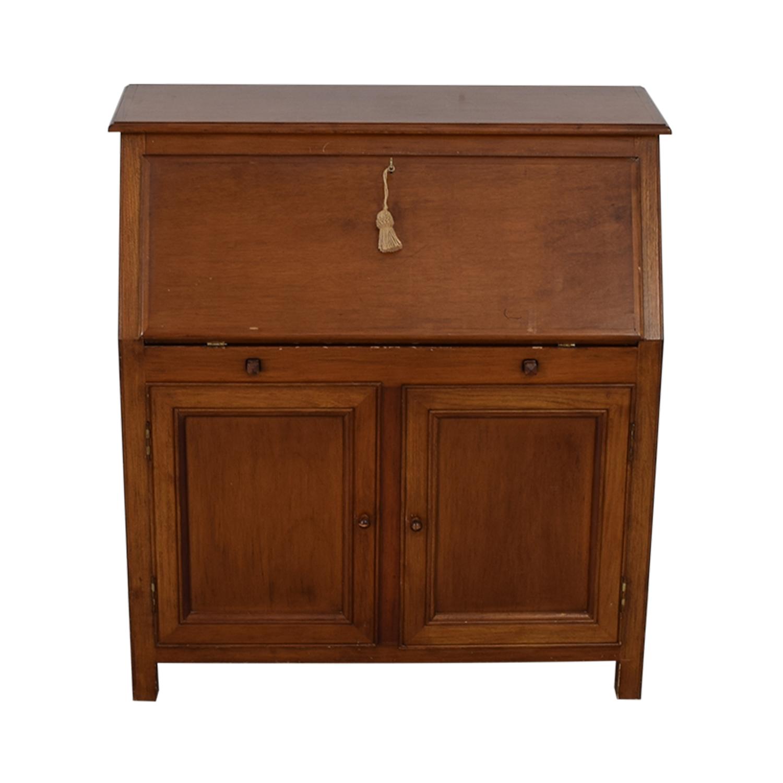shop Crate & Barrel Crate & Barrel Four-Drawer Wood Secretary Desk online