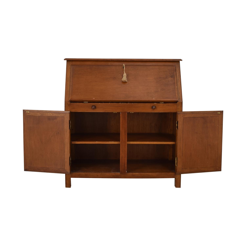 Crate & Barrel Crate & Barrel Four-Drawer Wood Secretary Desk on sale