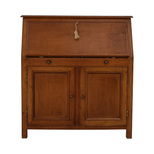 shop Crate & Barrel Four-Drawer Wood Secretary Desk Crate & Barrel