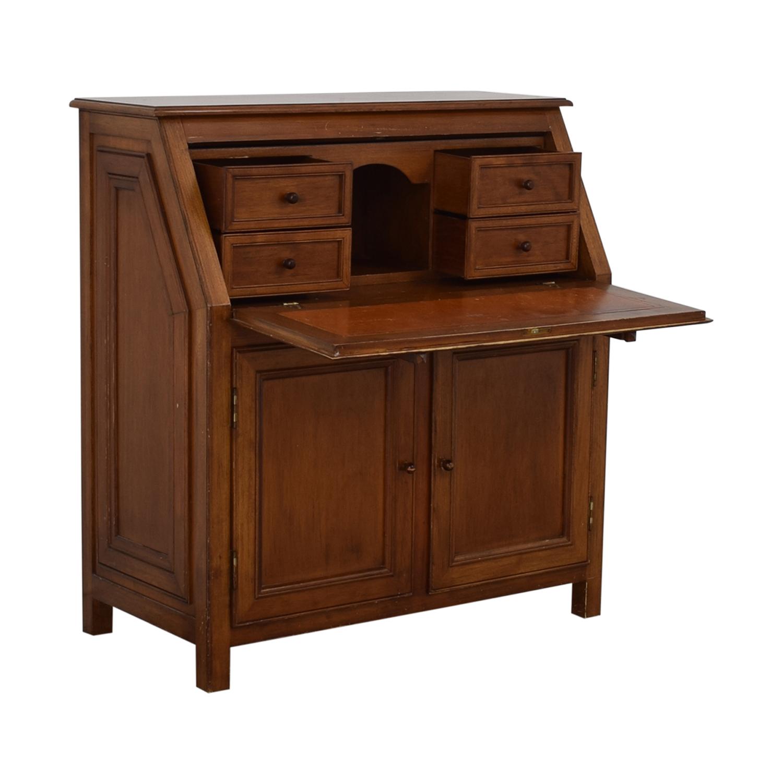 Crate & Barrel Crate & Barrel Four-Drawer Secretary Desk brown