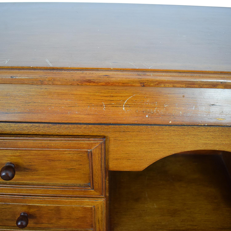 Crate & Barrel Crate & Barrel Four-Drawer Wood Secretary Desk