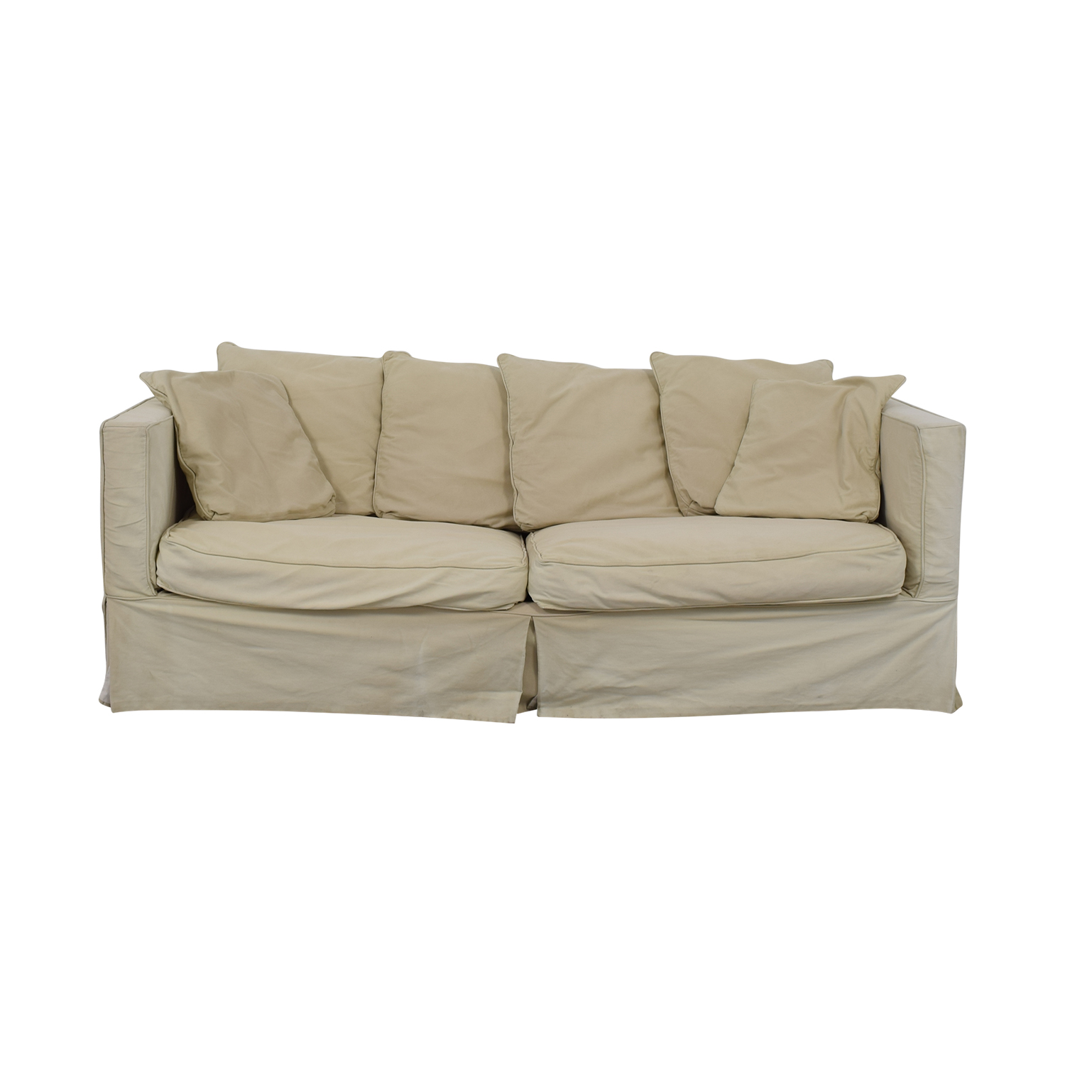 Crate & Barrel Crate & Barrel Beige Skirted Two-Cushion Sofa