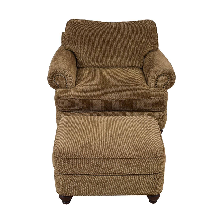buy Ethan Allen Oversized Chair with Ottoman Ethan Allen