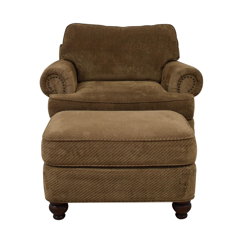 Ethan Allen Ethan Allen Oversized Chair with Ottoman second hand