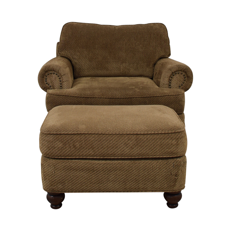 Ethan Allen Ethan Allen Oversized Chair with Ottoman coupon