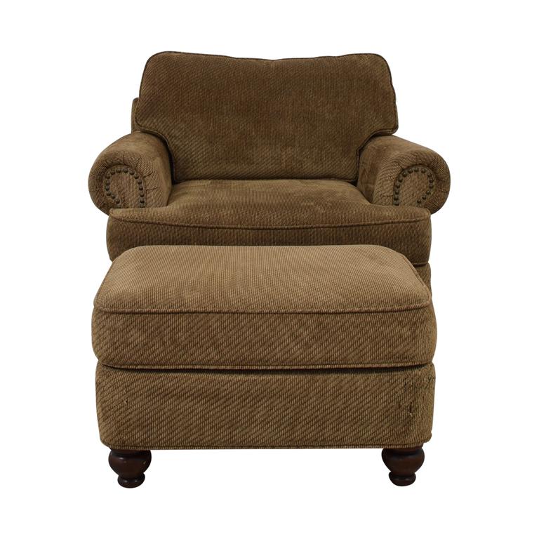 Ethan Allen Ethan Allen Oversized Chair with Ottoman Sofas