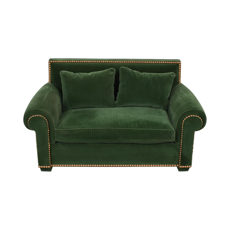 Green Nailhead Two-Cushion Loveseat / Loveseats