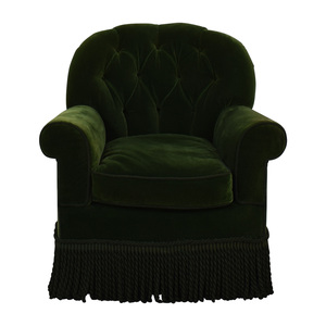 Green Skirted Accent Chair on sale