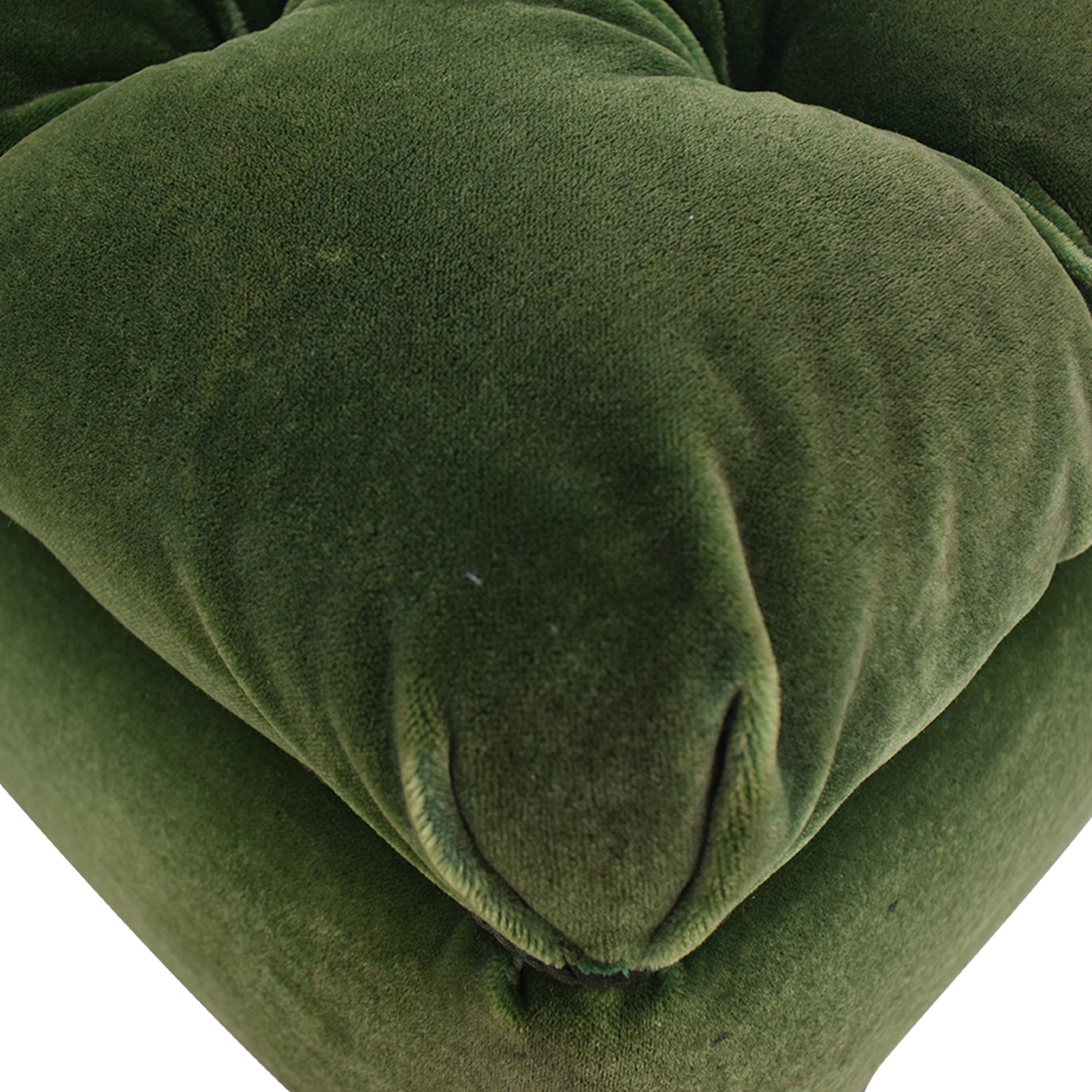 Green Tufted Storage Ottoman Chairs