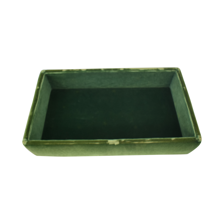 Green Tufted Storage Ottoman
