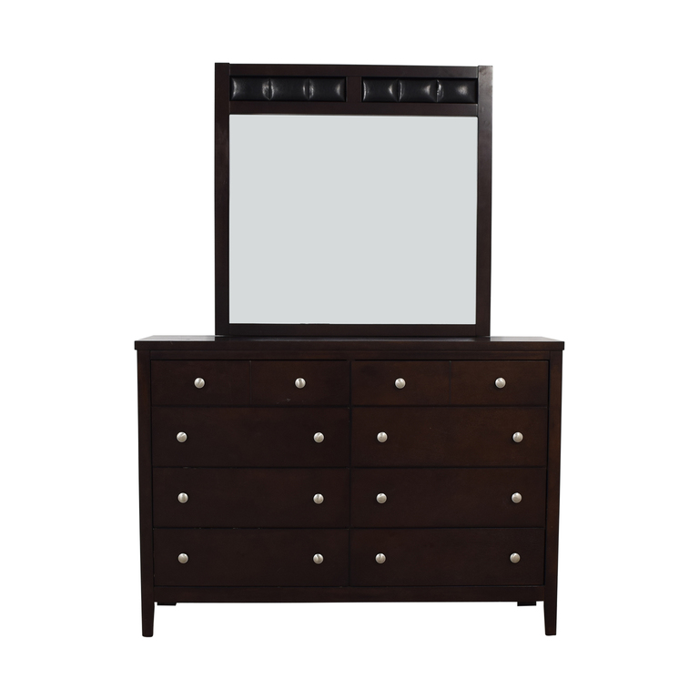 Eight-Drawer Dresser with Mirror on sale