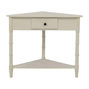 buy  White Single Drawer Corner End Table online