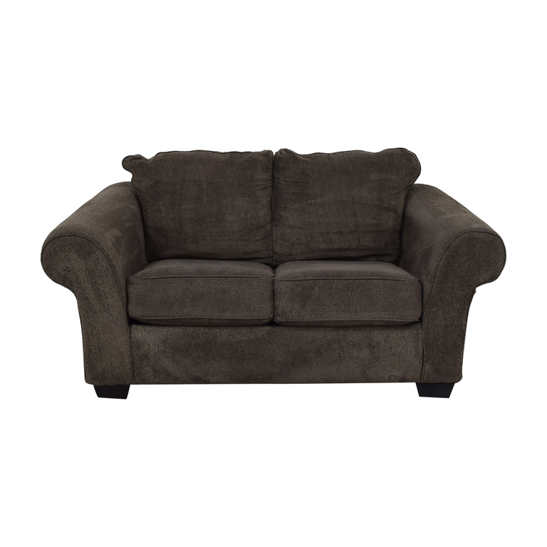 Ashley Furniture Ashley Furniture Grey Microfiber Two Cushion Loveseat coupon