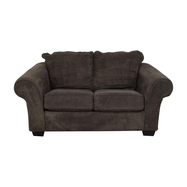 Ashley Furniture Ashley Furniture Grey Microfiber Two Cushion Loveseat nyc