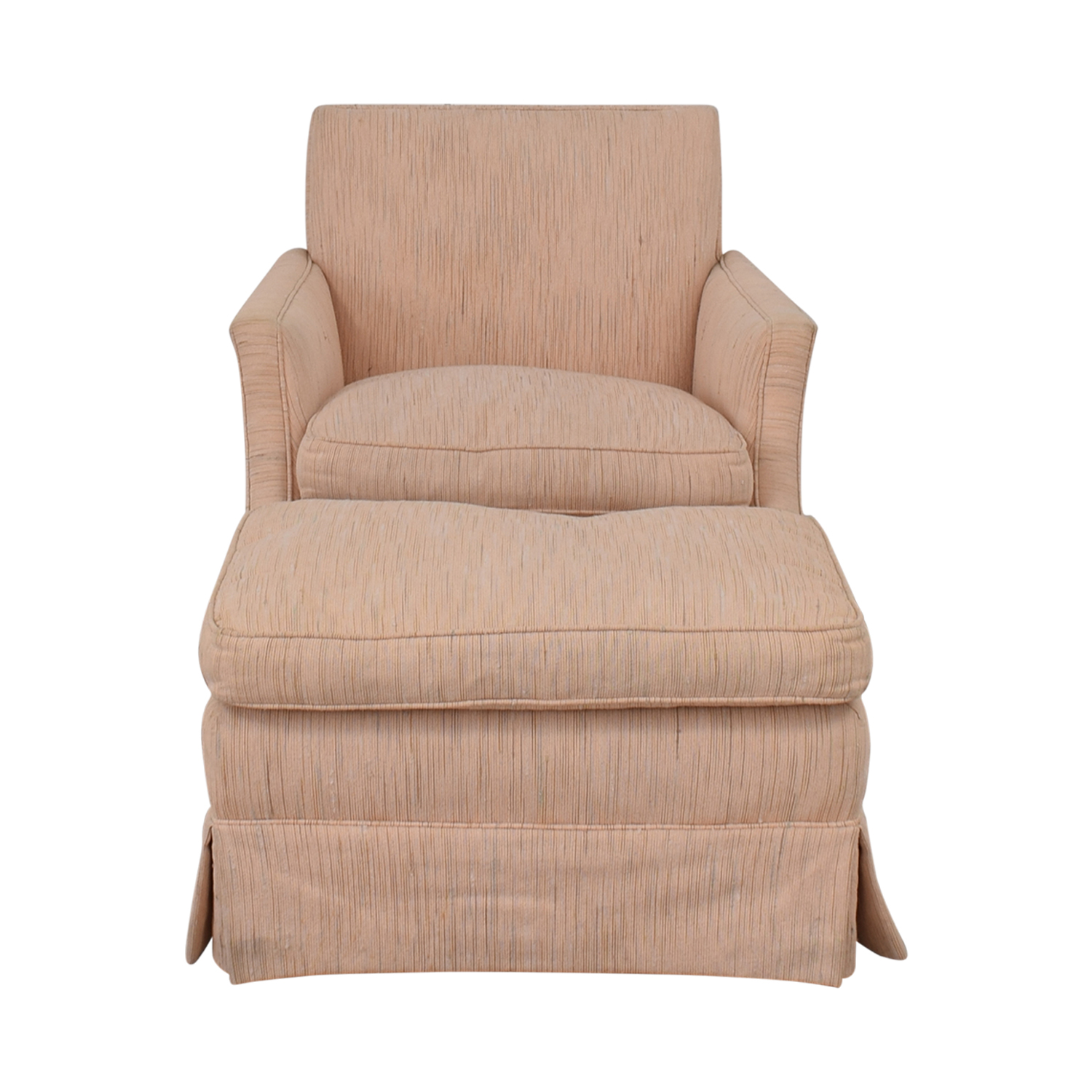 buy  Cushioned Chair and Ottoman online
