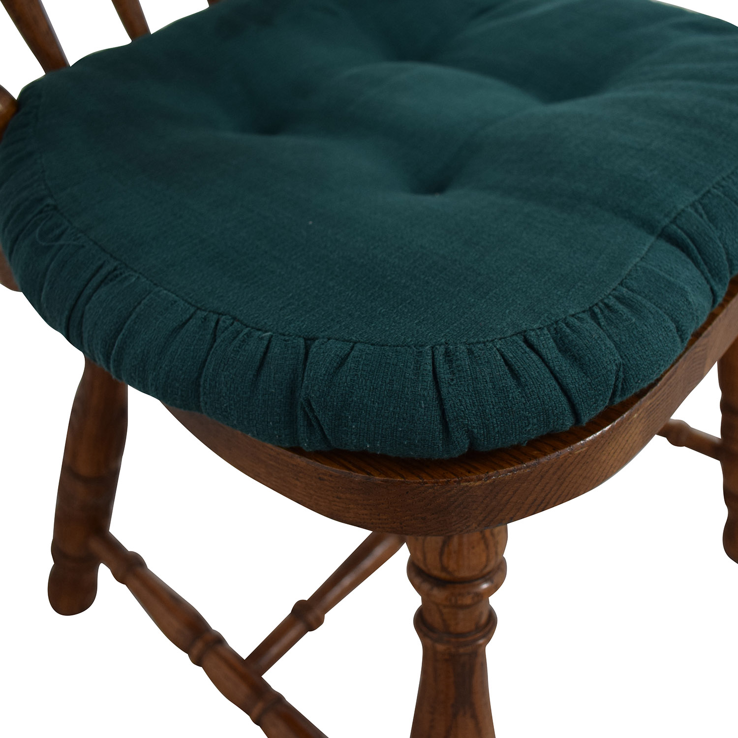 Wood Chair with Teal Cushion Dinner Tables
